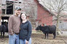 Daniel and Allison pose in the barnyard.