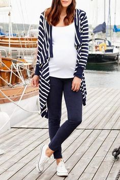JoJo Maman Bebe Cardigan Navy. #ad Maternity Work Clothes, Maternity Fashion Dresses, Maternity Skirt, Maternity Swimwear, Maternity Sweater, Stylish Maternity, Maternity Tops, Maternity Styles, Pregnancy Wardrobe