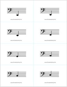Free printable music note flash cards for kids