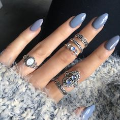 Imagem de nails, rings, and blue