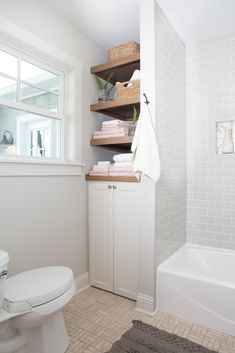 The home originally had two small bathrooms, but in order to make the home work best for Patti, we turned the hall bath into a powder bath and used the extra square footage to create a larger master bathroom.