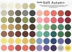 sunlit soft autumn palette