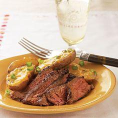 Cowboy Flank Steak | MyRecipes.com #myplate #protein