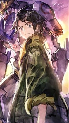 Mikazuki Augus, Gundam, Iron, Illustration, Anime, Pictures, Photos, Cartoon Movies, Illustrations