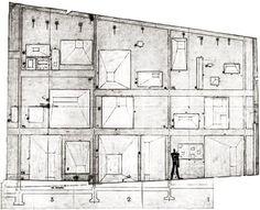 Le Corbusier…Notre Dame du Haut, Ronchamp…1950-51 Ronchamp Le Corbusier, Arch Windows, Kandinsky, Skylight, Line Drawing, Notre Dame, My House, Concrete, Floor Plans