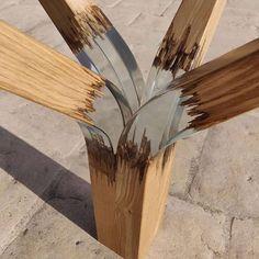 Wood Resin Table, Epoxy Resin Wood, Resin Art, Metal Clock, Metal Wall Art, Wood Art, Diy Resin Crafts, Wood Crafts, Woodworking Crafts