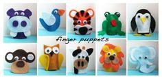 Repeat Crafter Me: Felt Finger Puppets