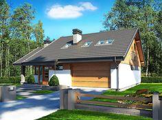 Maja II z rozłożystym dachem Modern House Design, Bungalow, House Plans, Villa, Outdoor Structures, House Styles, Outdoor Decor, Inspiration, Home Decor