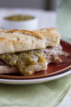 Salsa Verde Steak Sandwiches {Fridays with Rachael Ray} - Taste and Tell
