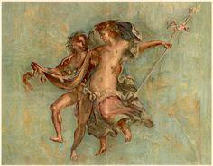 1915 Pompeii Fresco Antique Print Color Lithograph by Craftissimo, €35.00