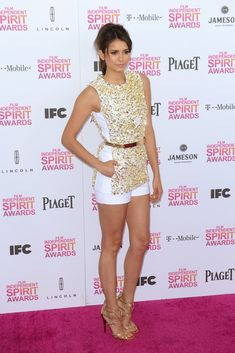 Nina Dobrev in Michael Kors at the Independent Spirit Awards [Photo by Tyler Boye]