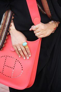 Hermes Evelyne Bag in a limited color; Rose Jaipur
