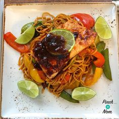 Syn Free Teriyaki & Chilli Salmon with Noodles | Slimming World