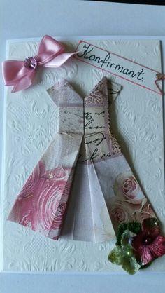 Konfirmasjons kort Paper Cutting, Paper Crafts, Gift Wrapping, Homemade, Gifts, Gift Wrapping Paper, Presents, Tissue Paper Crafts, Home Made