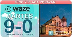 #PicoyPlaca #PopayánCO para placas terminadas en 9 y 0 en toda la ciudad de 7 a.m. a 7 p.m.