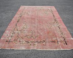 turkish rug oushak rug vintage rug turkey rug by turkishrugstar Rustic Rugs, Rustic Decor, Boho Decor, Bohemian Rug, Large Area Rugs, Types Of Rugs, Floral Rug, Bath Rugs, Floor Rugs