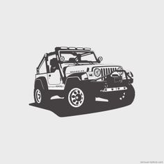Jeep Wrangler on Behance Auto Jeep, Jeep Cars, Wrangler Jeep, Jeep Tj, Cute Cartoon Wallpapers, Car Wallpapers, Jeep Drawing, Truck Art, Car Posters