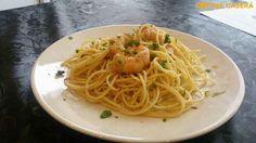 Espaguetis con camarones - Recetas de Cocina Casera - Recetas fáciles y sencillas