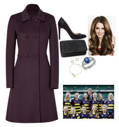 """""""Watching the RBS Six Nations match between England and France at Twickenham Stadium with Prince Harry after Meeting students from Reigate School"""" by fashion-royalty ❤ liked on Polyvore featuring Polo Ralph Lauren, Zara, Salvatore Ferragamo, Blue Nile, Paloma Picasso and Tiffany & Co."""