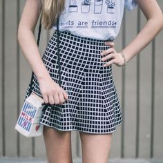 Double Sided Grid Skirt – Pep Club Clothing