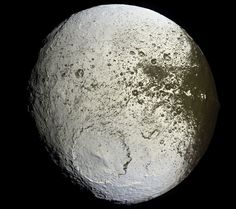 Saturn's Iapetus: Painted Moon --- Image Credit: Cassini Imaging Team, SSI, JPL, ESA, NASA