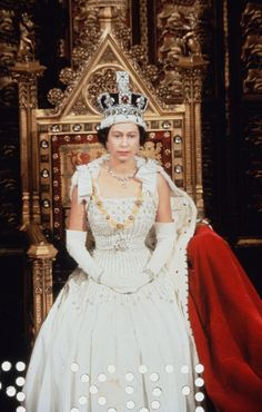 The Imperial State Crown - Queen Elizabeth II wore the crown again on January 1967 after wearing it for her coronation in Originally made for her father, King George VI in it is set with 2868 diamonds, 17 sapphires, 11 emeralds and 269 pearls. Queen Elizabeth Jewels, Young Queen Elizabeth, Queen Elizabeth Wedding, Princess Elizabeth, Princess Diana, Queens Tiaras, Queens Jewels, Royal Crowns, Tiaras And Crowns