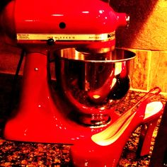 @ruelala #shoelala My two fave things  #Red #shoes #kitchenaid