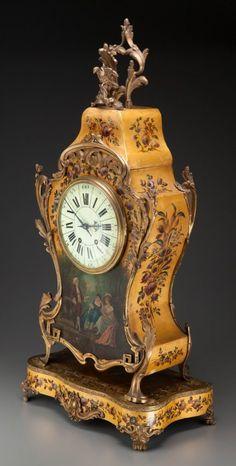65056: Un estilo Luis XV-Vernis Martin soporte de reloj,