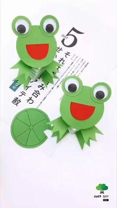 Animal Crafts For Kids, Paper Crafts For Kids, Art For Kids, Daycare Crafts, Frog Crafts Preschool, Paper Crafts Origami, Kindergarten Art, Spring Crafts, Creative Crafts