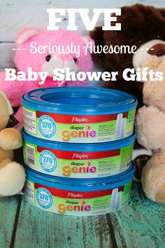 Baby shower registries are great and all... but I've got 5 super awesome baby shower gifts that are even better!  #RefreshYourNursery #Pmedia #ad