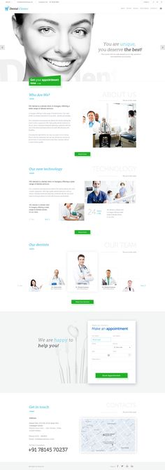 Design a home page for Dentist Clinic and doctors. Design needed more clean and minimilist design focus only on doctors and appointment