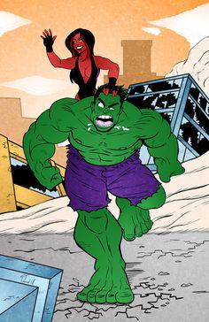 #Hulk #Fan #Art. (Hulk - color) By: Thebit07