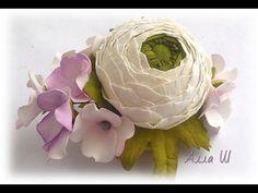 МК Заколка для волос с цветами из фоамирана своими руками.