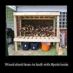 Ryobi Built Lean-To