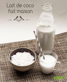 Coconut milk the homemade recipe! Make your own coconut milk Healthy Drinks, Healthy Recipes, Milk Alternatives, Sweet Cooking, Alternative Health, Vegan Life, Milkshake, Coconut Milk, Glass Of Milk