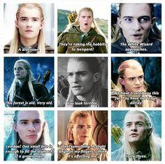 """You look terrible!"" - Legolas is the fashion police of Middle Earth. <<<< THAT OH MY GOSH XD Legolas had the best lines. Legolas And Thranduil, Gandalf, Aragorn, Tauriel, Orlando Bloom, Pokemon Lego, J. R. R. Tolkien, Tolkien Books, O Hobbit"