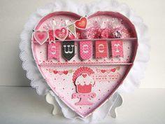 Darling Valentines shadow box by Designer Linda.