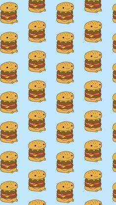Cheeseburger  - Tap to see more cute food cartoon wallpapers!   @mobile9