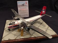 1/72 Ansett Airlines Caribou freighter with several scratch-built extras, including full interior.