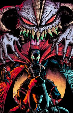 Spawn by Arnaldo Robles on ArtStation Spawn 1, Spawn Comics, Vintage Comic Books, Comic Books Art, Comic Art, Image Comics, Beetlejuice, Black Panther Storm, Geek Games