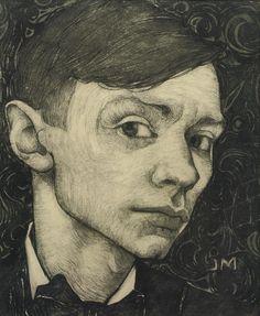 Jan Mankes (Dutch, 1889-1920), Self-portrait, c.1915. Pencil and charcoal on paper, 21 x 17.5 cm