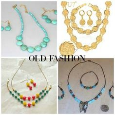 Newest Trend: Your necklace, earrings and bracelet don't have to match like shown below. So feel free to mix it up and be creative! Let the true you shine though!