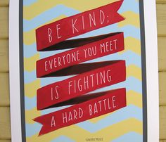 True, so be kind!