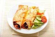 Rocco DiSpirito's Cheesy Turkey Enchiladas With Tomatillo Salsa and Cilantro