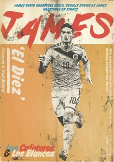 James Rodriguez Retro Football, Football Art, Vintage Football, James Rodriguez, Good Soccer Players, Football Players, Sports Art, Soccer Sports, Soccer Inspiration