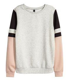 Sweater | Grijs gemêleerd/roze | Dames | H&M NL