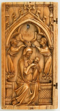 Leaf from a Diptych with the Virgin and Child and Angels Date: ca. Culture: North French Medium: Ivory Dimensions: Overall: 3 x 2 x in. Medieval Bedroom, Romanesque Art, Medieval Gothic, Late Middle Ages, Stained Glass Panels, Gothic Architecture, Gothic Art, Renaissance Art, Illuminated Manuscript