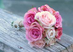 Silk Bouquet Bride Arrangement Rustic Wedding by braggingbags, $74.99