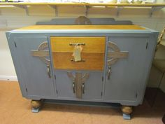Art Deco buffet painted in Autentico Zinc Look.