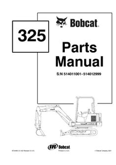 Bobcat 331 331e 334 Excavator Service Repair Manual